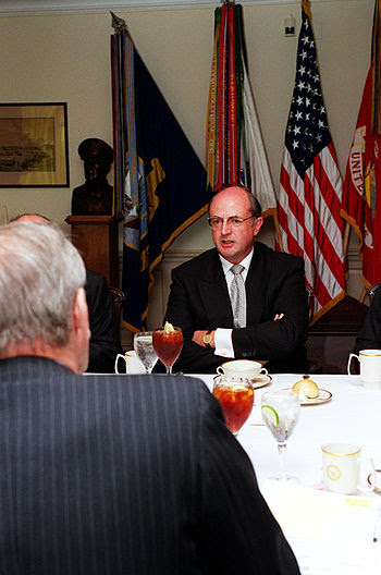 Australian Minister for Defence Peter Reith me...