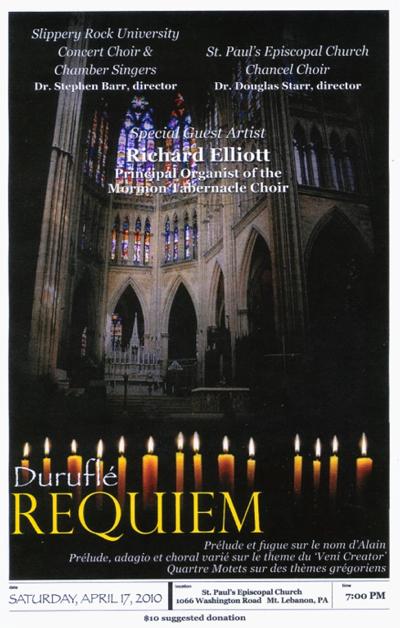 Duruflé concert poster