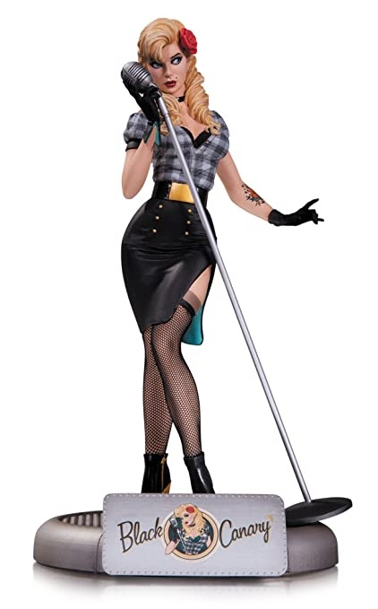 Dc Collectibles Dc Comics Bombshells Black Canary Statue