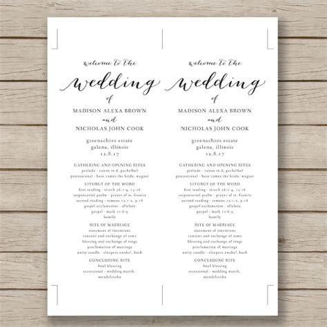 Wedding Program Template   41  Free Word, PDF, PSD