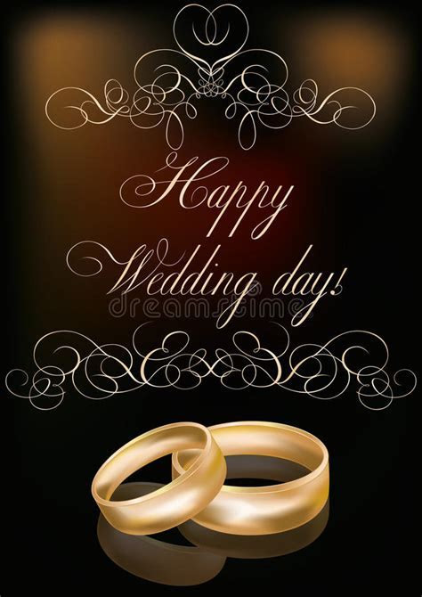 Happy Wedding Day Card Royalty Free Stock Image   Image