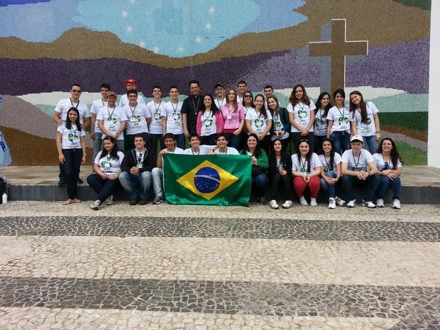 Jovens de Itapetininga (SP) seguem para a Jornada Mundial da Juventude. (Foto: Divulgação / Lucas Cerejo)