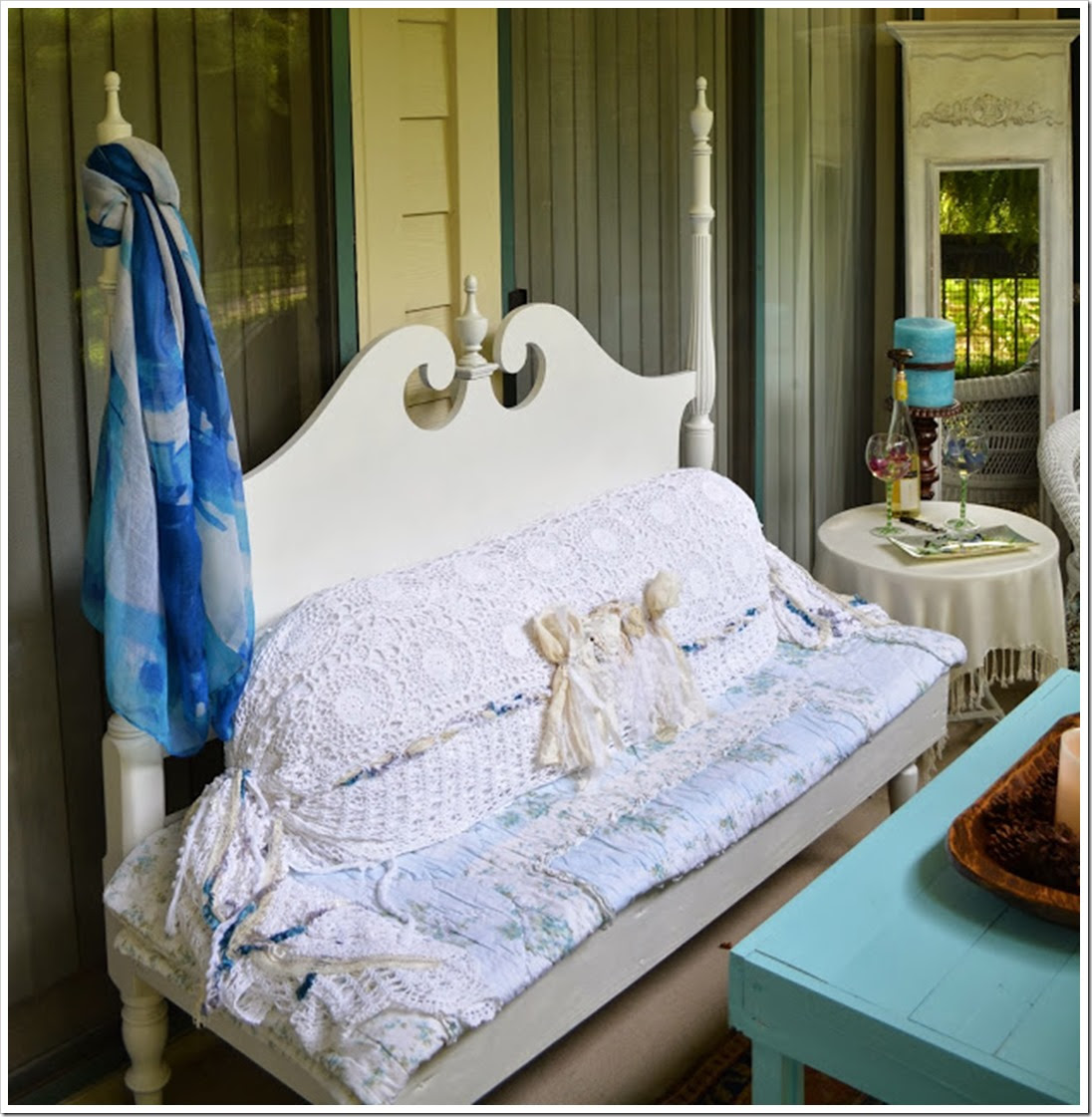 Shabby Chic Porch by Patty Rumaker