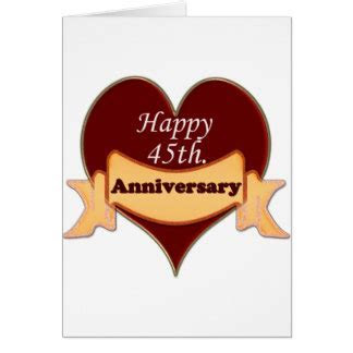 45 Year Anniversary Cards, Photo Card Templates
