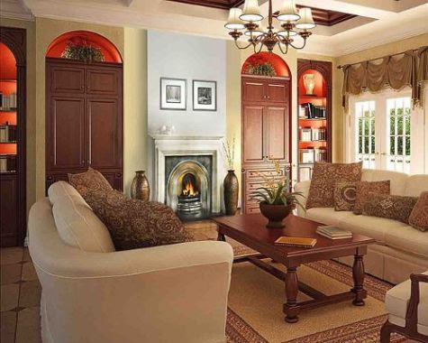 French country living room style – Interior design