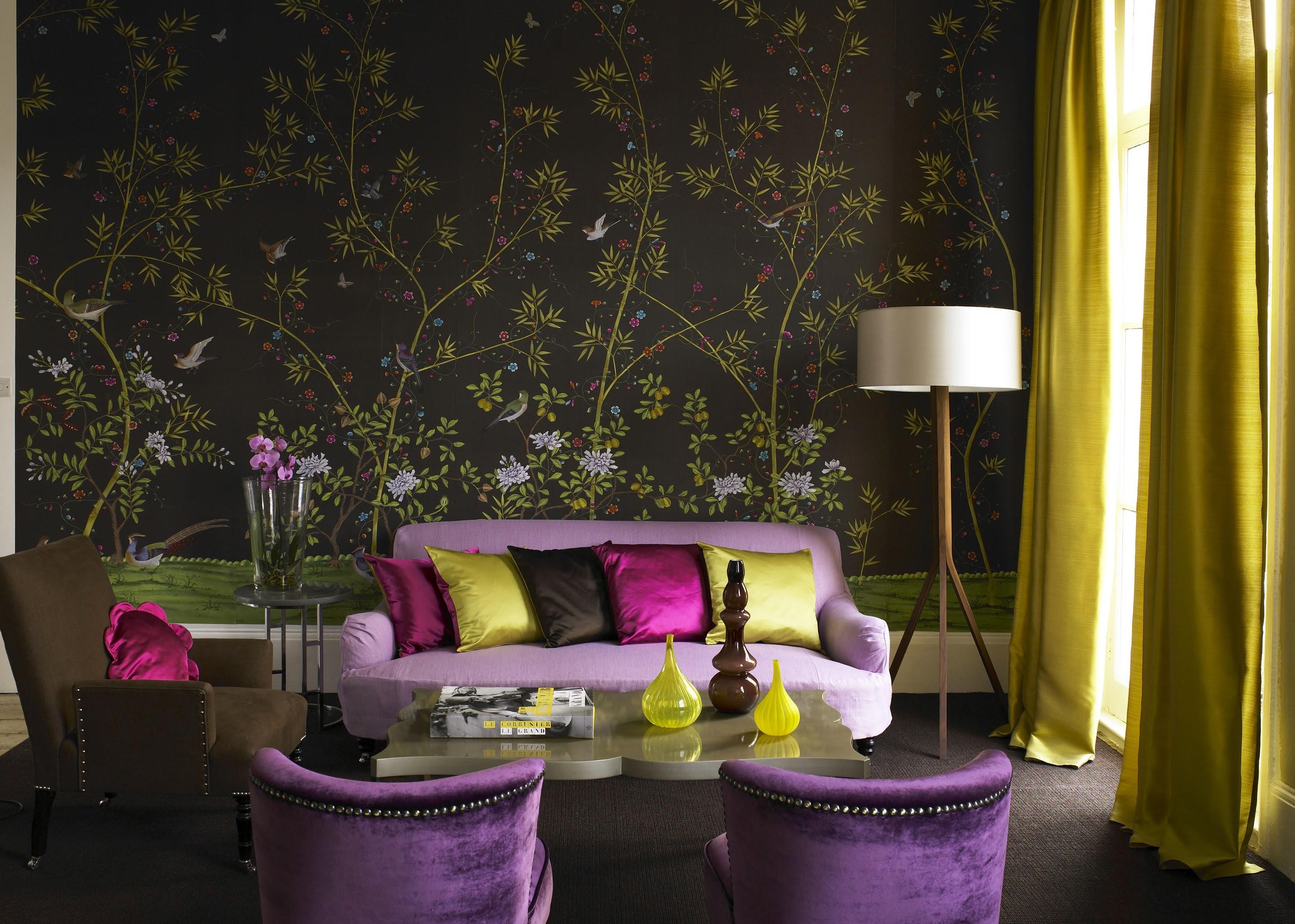Floral Wallpaper Living Room Homebase Wallpaper