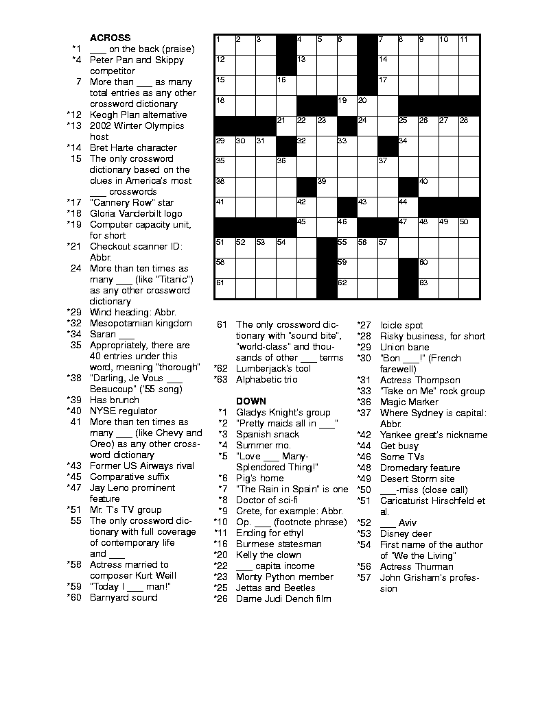 1000+ ideas about Printable Crossword Puzzles on Pinterest ...