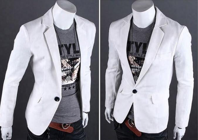Blazer Fashion Moderno de un Boton - Ideal para la Noche - Blanco