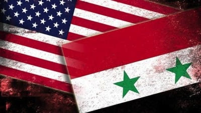 us-syria flags