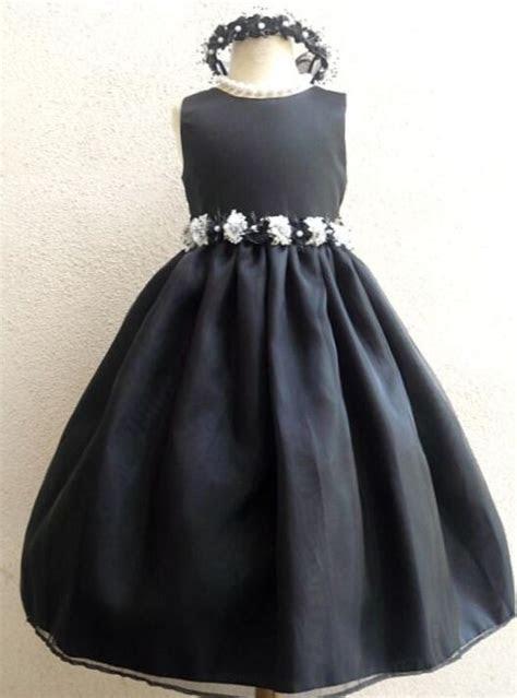 pretty christmas pageant black flower girl arty dress