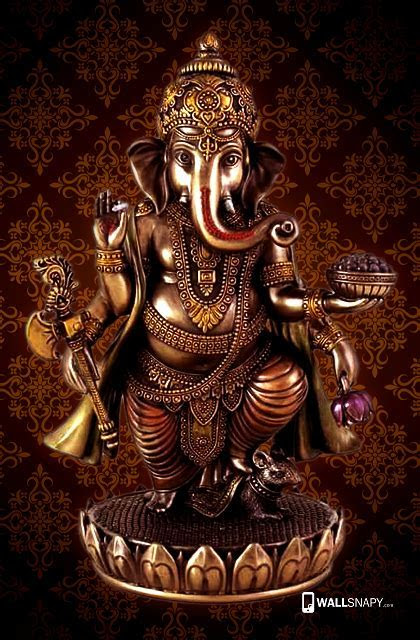 Lord ganesh gold statue hd wallpaper   Primium mobile