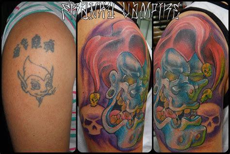franky vampire tattoo stickers cover hand