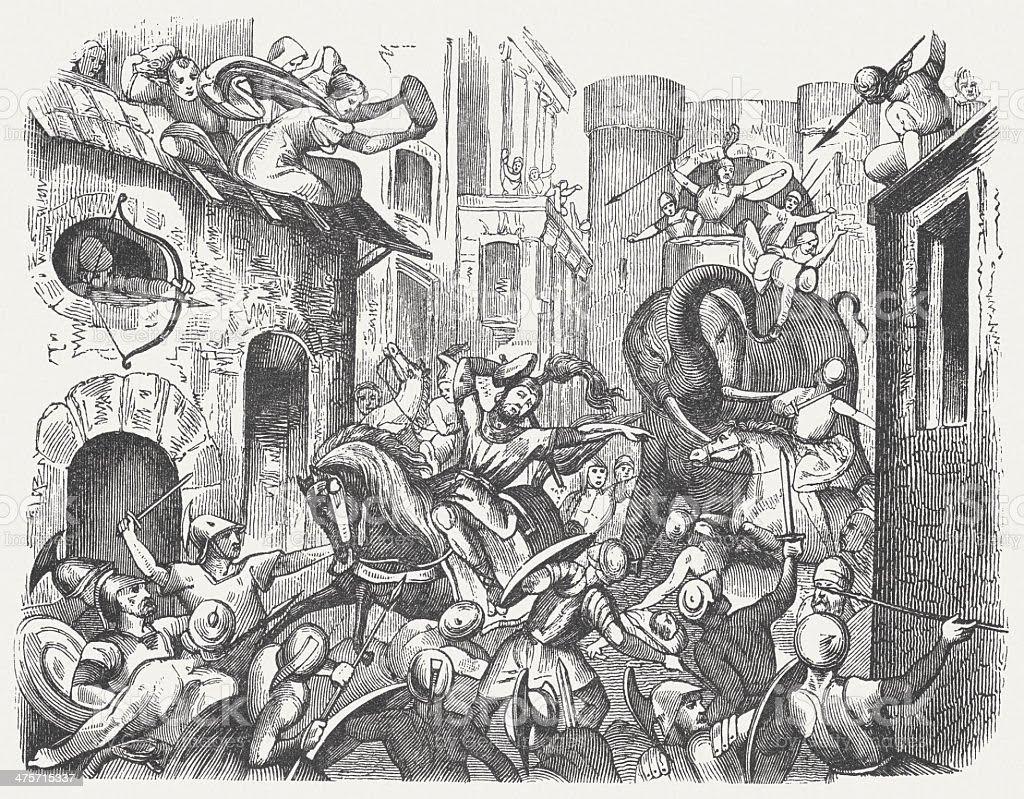 Resultado de imagen de death of pyrrhus of Epirus