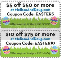 Easter Coupons, MelissaandDoug.com