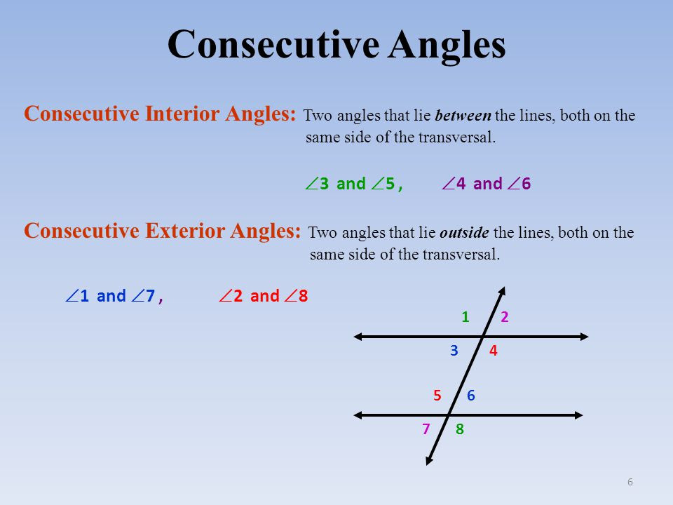 Consecutive+Angles+Consecutive+Interior+Angles%3A+Two+angles+that+lie+between+the+lines%2C+both+on+the+same+side+of+the+transversal