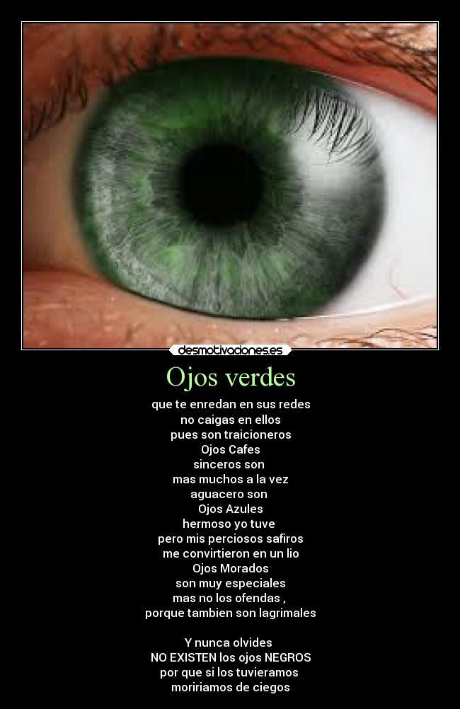 Ojos Verdes Desmotivaciones
