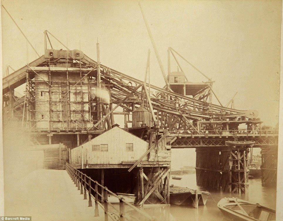 Transformation: The bridge took eight years to build and at the time was a landmark feat of engineering, combining elements of a suspension and high level bridge and a bascule