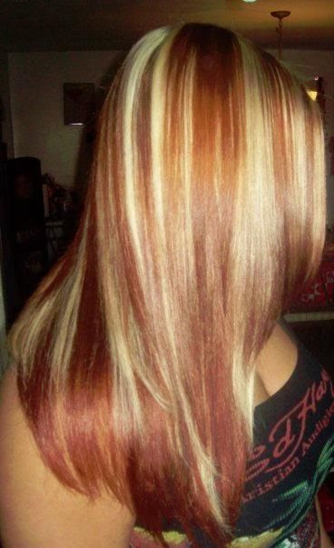 blonde with copper highlights  Hair HighLights  Pinterest
