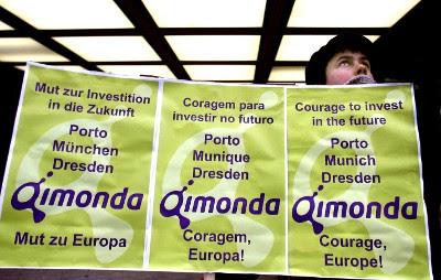 Processo de insolvência da Quimonda deixou cerca de 12 mil trabalhadores no desemprego Foto de Mário Cruz, Lusa.