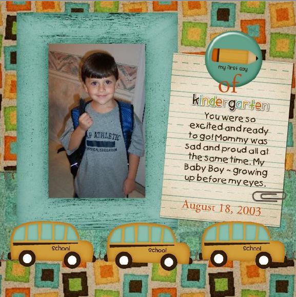 Gabe's First Day of Kindergarten
