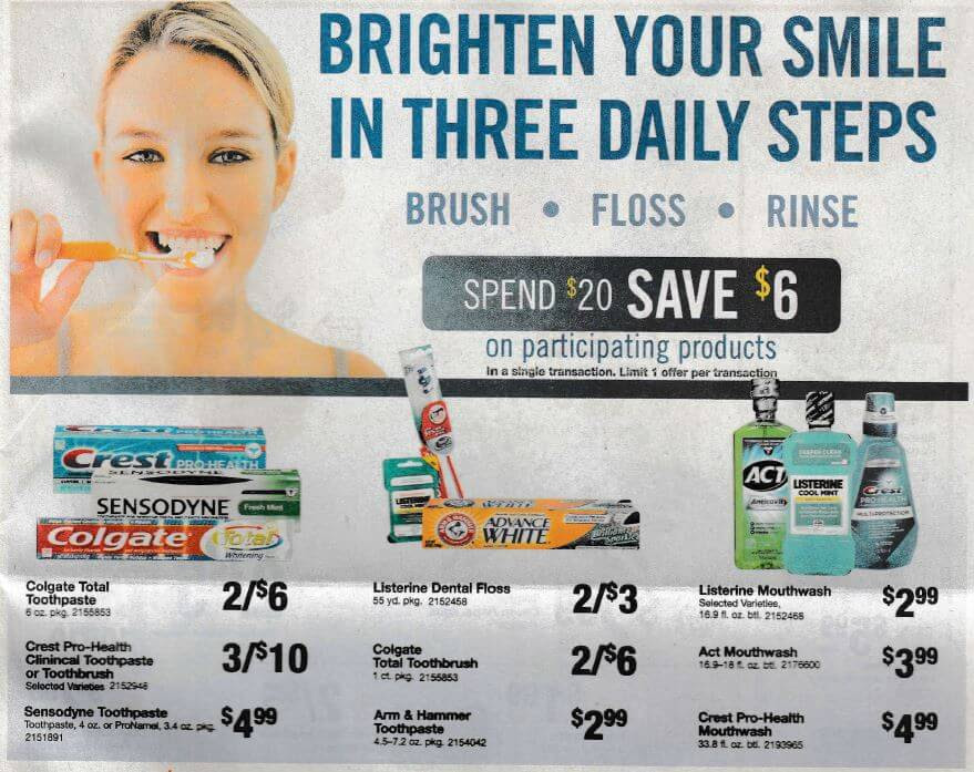 ... Colgate Toothpaste & Listerine Floss 2/26Living Rich With Coupons