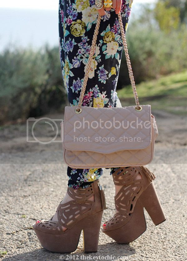 Love Culture floral pants, Michael Antonio Gallista heels, Aldo quilted handbag, southern California fashion blog