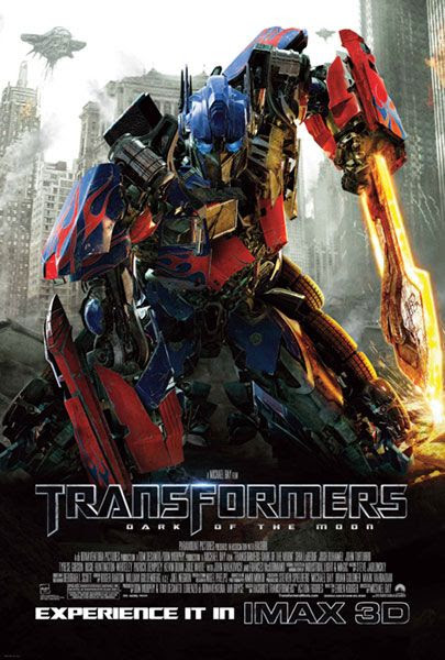 The IMAX 3D theatrical poster for TRANSFORMERS: DARK OF THE MOON.