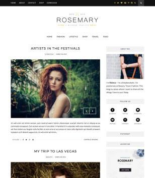 Rosemary Minimal Blogger Templates