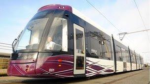 New Blackpool tram
