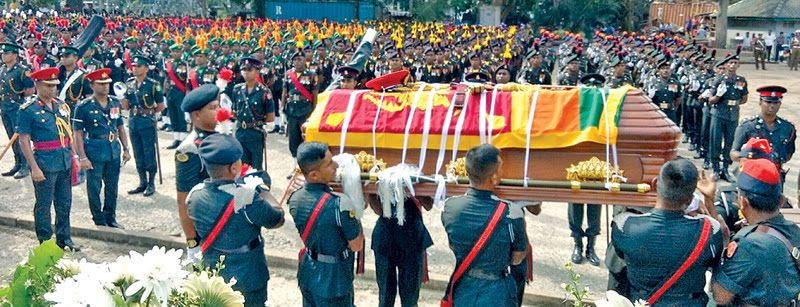 The funeral of former Army Commander Gen. Rohan de.S Daluwatte