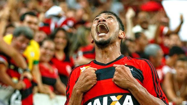 Hernane gol Flamengo jogo Botafogo Copa do Brasil (Foto: Alexandre Cassiano / Agência O Globo)
