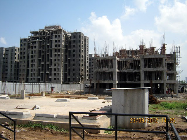 Phase 1 & 3 slabs of A Building Phase 3 - Neo City - Phase 3, 2 BHK Flats, behind Jain College Bakori Road, Wagholi, Pune 412207