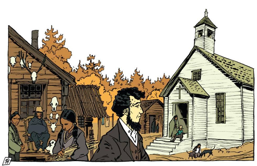 Ilustración de 'Thoreau, la vida sublime', de Maximilien Le Roy y A. Dan.