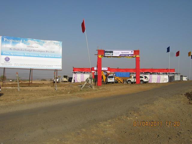 Site of Dajikaka Gadgil Developers' Anant Srishti at Kanhe, near Talegaon, Pune