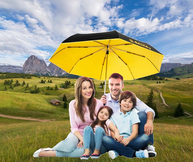 【Nendaz 極度強悍 超大降溫全自動雨傘】Nendaz Sturdy 系列 加大傘面可遮風擋雨 抗陽光降溫