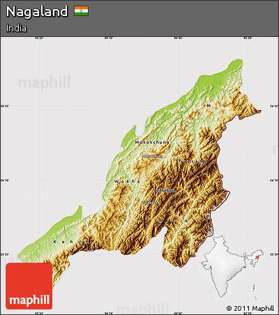 Nagaland Physiographic Map