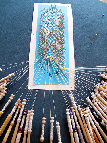 the making of lace - a bookmark