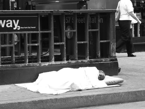 Homeless on the Sidewalk