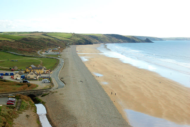 File:Newgale beach from the cliffs - geograph.org.uk - 1524893.jpg