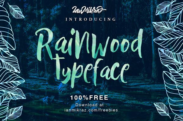 Rainwood gratuito Brush Fuente