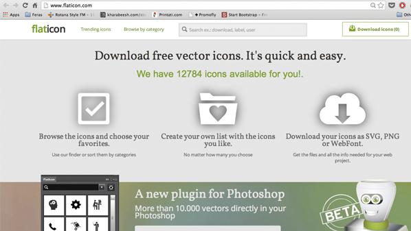 """يسمح للمستخدم بتنزيل أي أيقونة بضيغة """"SVG""""."""