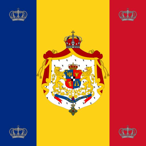 File:Royal standard of Romania (King, 1881 model).svg