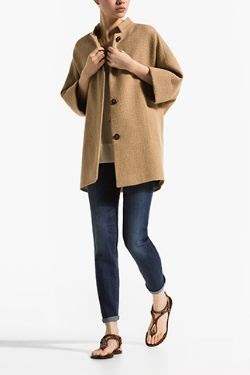 Massimo Dutti Structured Cape Coat