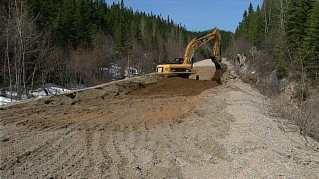 Construction du prolongement de la route 167 vers les monts Otish