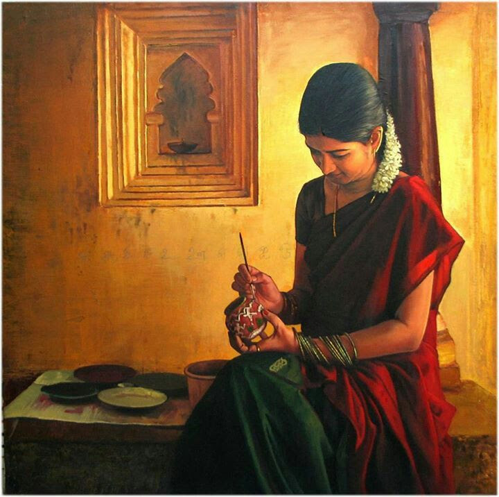 art tamil girl
