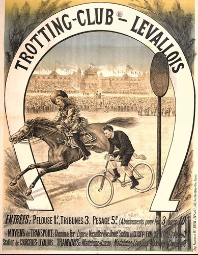 Bike vs Horse, 1893 (bottom of poster)