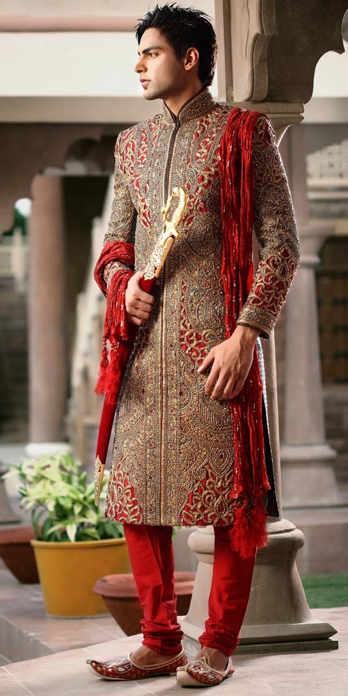 A WEDDING PLANNER: Indian traditional suits for Grooms, Wedding ...