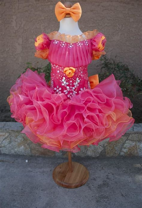 beautiful glitz cupcake pageant dress toddler  girl sashes  flower girl dresses taffeta