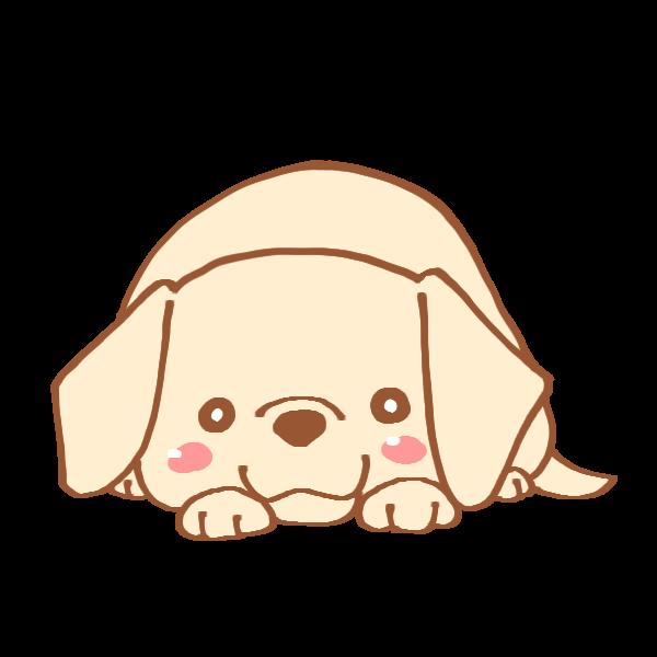 ふせをする犬のイラスト かわいいフリー素材が無料のイラストレイン
