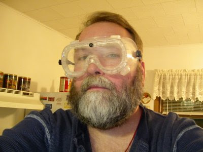 me with lab goggles